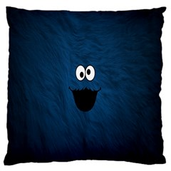 Funny Face Large Flano Cushion Case (Two Sides)