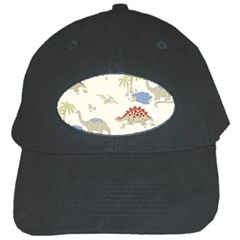 Dinosaur Art Pattern Black Cap