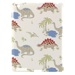 Dinosaur Art Pattern Apple iPad 3/4 Hardshell Case (Compatible with Smart Cover)