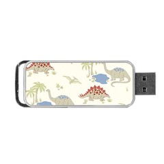Dinosaur Art Pattern Portable USB Flash (One Side)