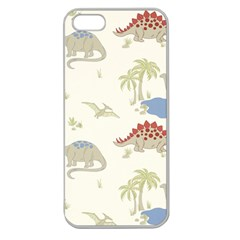 Dinosaur Art Pattern Apple Seamless iPhone 5 Case (Clear)