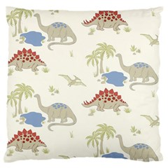Dinosaur Art Pattern Large Flano Cushion Case (One Side)