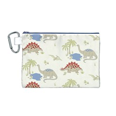 Dinosaur Art Pattern Canvas Cosmetic Bag (M)