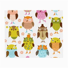 Cute Owls Pattern Small Glasses Cloth