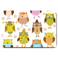 Cute Owls Pattern Large Doormat
