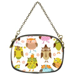 Cute Owls Pattern Chain Purses (Two Sides)