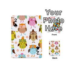 Cute Owls Pattern Playing Cards 54 (Mini)