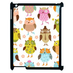 Cute Owls Pattern Apple iPad 2 Case (Black)