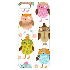 Cute Owls Pattern Apple iPhone 5 Hardshell Case with Stand