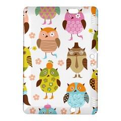 Cute Owls Pattern Kindle Fire HDX 8.9  Hardshell Case