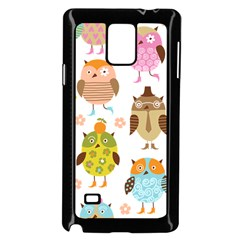 Cute Owls Pattern Samsung Galaxy Note 4 Case (Black)