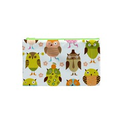 Cute Owls Pattern Cosmetic Bag (XS)