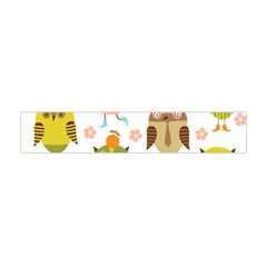 Cute Owls Pattern Flano Scarf (Mini)