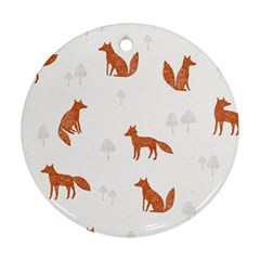 Fox Animal Wild Pattern Ornament (Round)