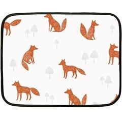 Fox Animal Wild Pattern Fleece Blanket (Mini)