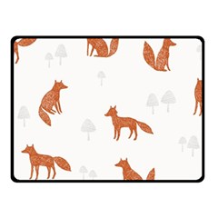 Fox Animal Wild Pattern Fleece Blanket (Small)