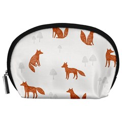 Fox Animal Wild Pattern Accessory Pouches (Large)