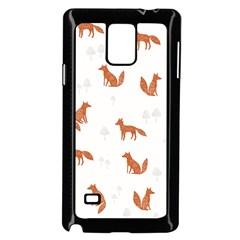 Fox Animal Wild Pattern Samsung Galaxy Note 4 Case (Black)