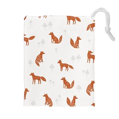Fox Animal Wild Pattern Drawstring Pouches (Extra Large)