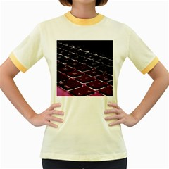 Computer Keyboard Women s Fitted Ringer T-Shirts