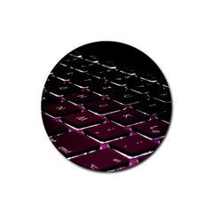 Computer Keyboard Rubber Round Coaster (4 pack)
