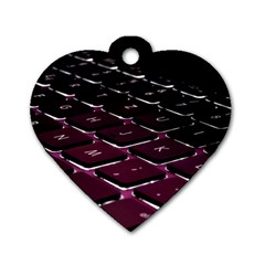 Computer Keyboard Dog Tag Heart (One Side)