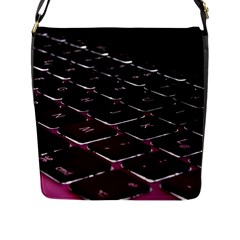 Computer Keyboard Flap Messenger Bag (L)