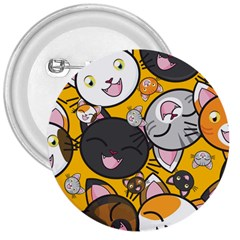 Cats Cute Kitty Kitties Kitten 3  Buttons