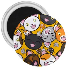 Cats Cute Kitty Kitties Kitten 3  Magnets
