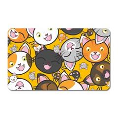 Cats Cute Kitty Kitties Kitten Magnet (Rectangular)