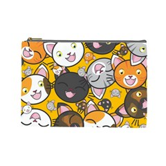 Cats Cute Kitty Kitties Kitten Cosmetic Bag (Large)