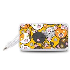 Cats Cute Kitty Kitties Kitten Portable Speaker (White)