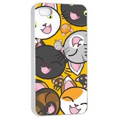 Cats Cute Kitty Kitties Kitten Apple iPhone 4/4s Seamless Case (White)