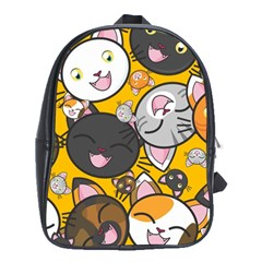 Cats Cute Kitty Kitties Kitten School Bags (XL)