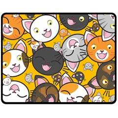 Cats Cute Kitty Kitties Kitten Double Sided Fleece Blanket (Medium)