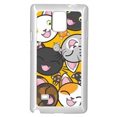 Cats Cute Kitty Kitties Kitten Samsung Galaxy Note 4 Case (White)