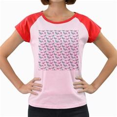 Cute Pastel Butterflies Women s Cap Sleeve T Shirt