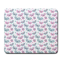 Cute Pastel Butterflies Large Mousepads