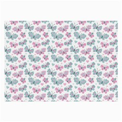 Cute Pastel Butterflies Large Glasses Cloth (2 Side)