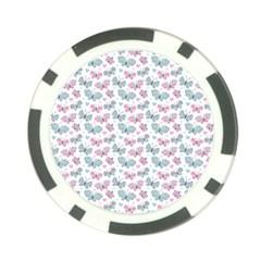 Cute Pastel Butterflies Poker Chip Card Guard