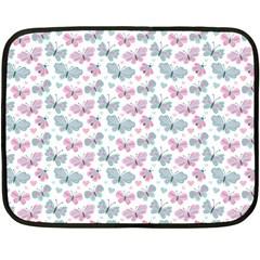 Cute Pastel Butterflies Fleece Blanket (mini)