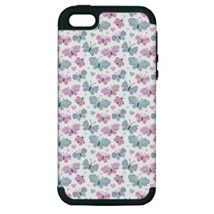 Cute Pastel Butterflies Apple iPhone 5 Hardshell Case (PC+Silicone)