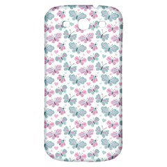 Cute Pastel Butterflies Samsung Galaxy S3 S III Classic Hardshell Back Case
