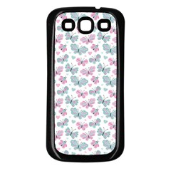 Cute Pastel Butterflies Samsung Galaxy S3 Back Case (black)