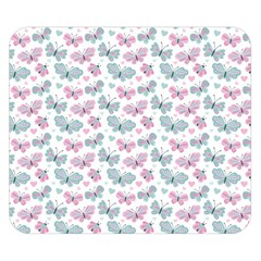 Cute Pastel Butterflies Double Sided Flano Blanket (Small)
