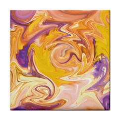 Yellow Marble Tile Coasters