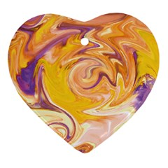 Yellow Marble Ornament (Heart)