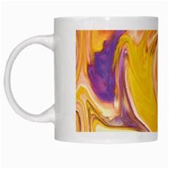 Yellow Marble White Mugs