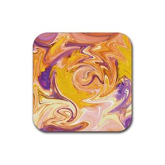 Yellow Marble Rubber Square Coaster (4 Pack)