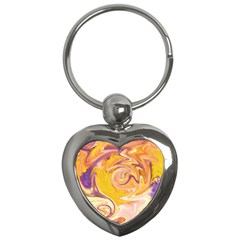 Yellow Marble Key Chains (heart)